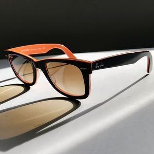 Ray-ban wayfarer sunglasses black orange brown